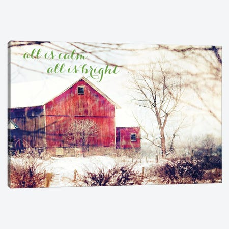 Calm and Bright Barn Canvas Print #KPO3} by Kelly Poynter Canvas Print