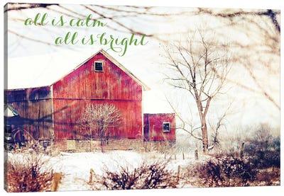 Calm and Bright Barn Canvas Art Print