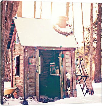 Holiday Shed Canvas Art Print