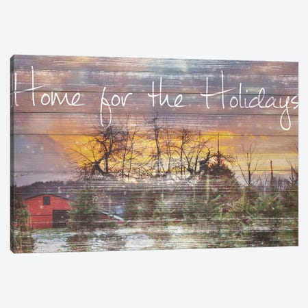 Home for the Holidays Canvas Print #KPO8} by Kelly Poynter Canvas Print