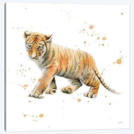 Tiger Cub Canvas Print #KPT12} by Katrina Pete Canvas Wall Art