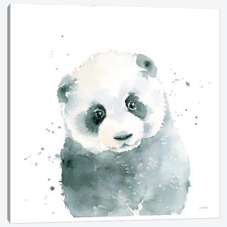 Panda Cub Canvas Print #KPT7} by Katrina Pete Canvas Art