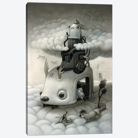 Cloud Crawler 3-Piece Canvas #KRA13} by Kristian Adam Canvas Wall Art