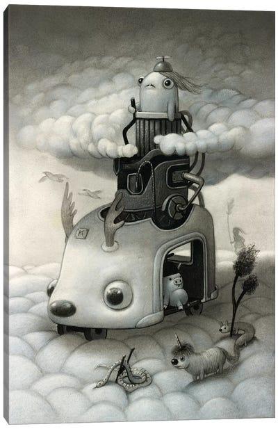 Cloud Crawler Canvas Art Print