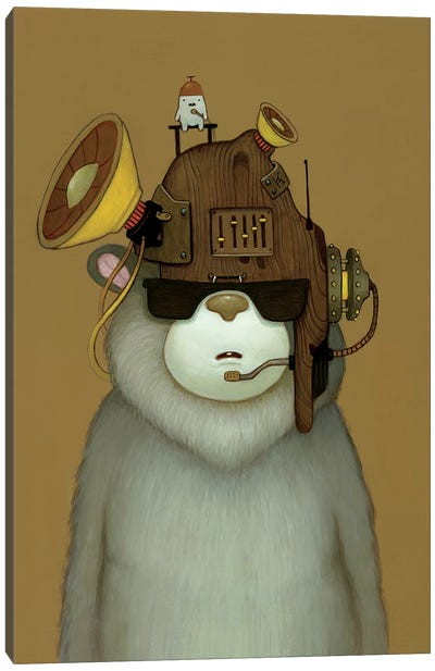 Karaoke Helmet Canvas Art Print