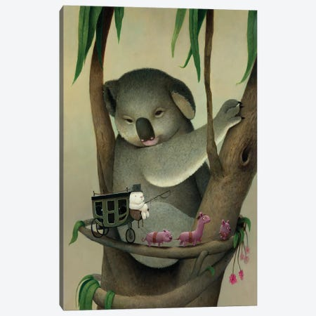 Koala Canvas Print #KRA30} by Kristian Adam Canvas Art