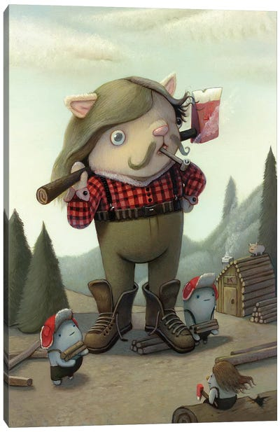 Lumberjack Canvas Art Print
