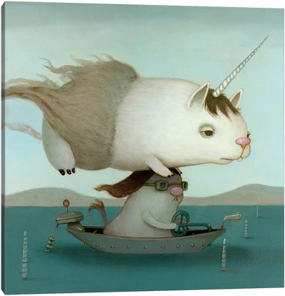 Motorboatn Canvas Art Print