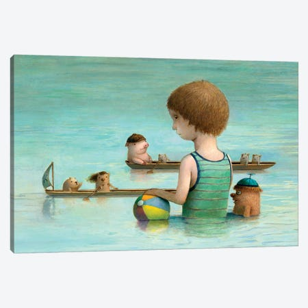 Rowing Club Canvas Print #KRA54} by Kristian Adam Canvas Art Print