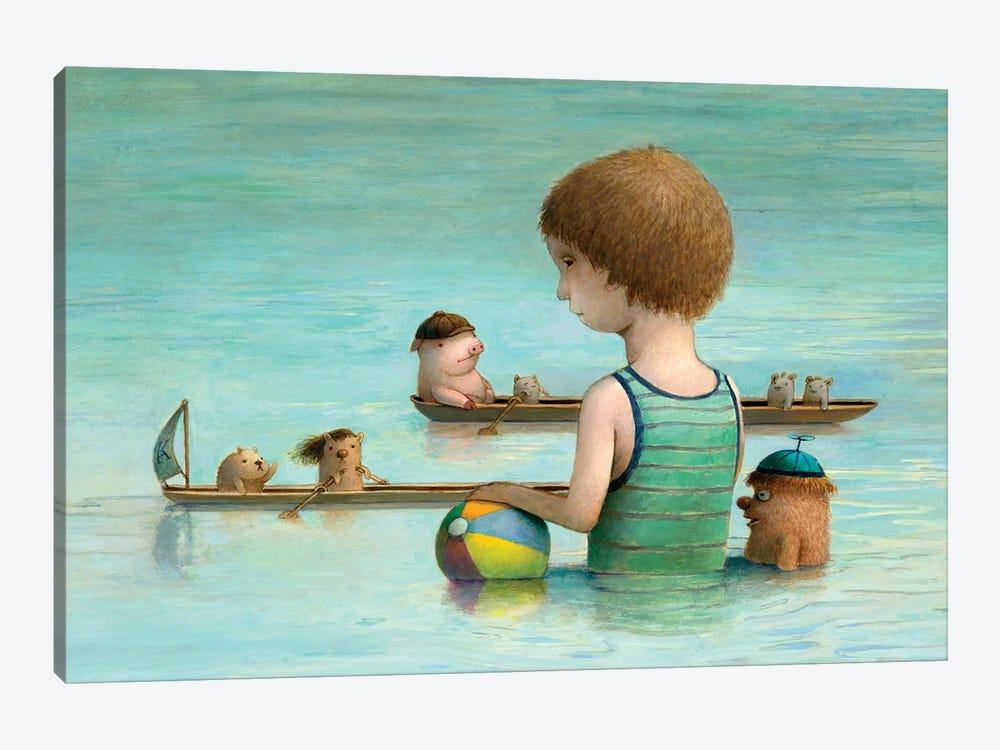 Rowing Club by Kristian Adam 1-piece Canvas Art