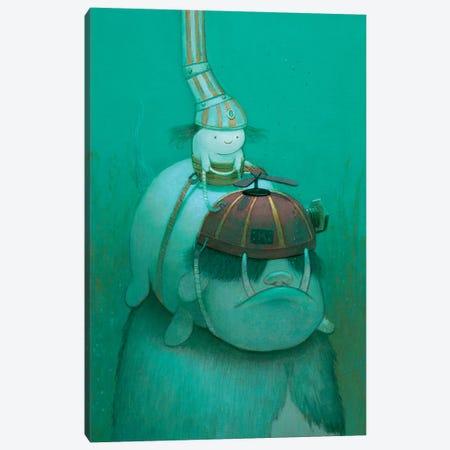 Searching For Kelp Canvas Print #KRA55} by Kristian Adam Canvas Art Print