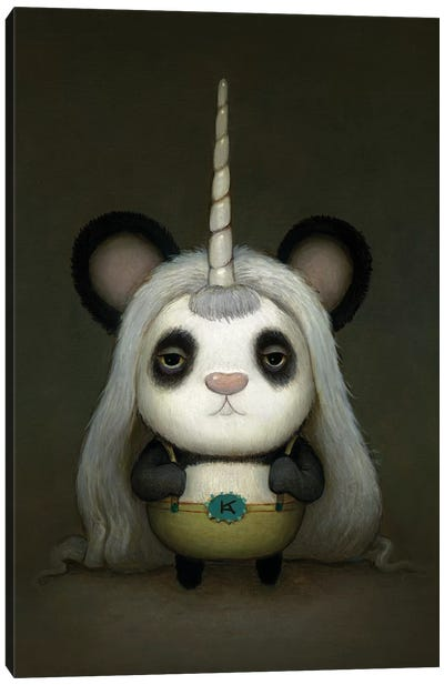 Baby Pandacorn Canvas Art Print