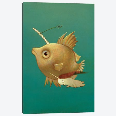 Spiked Atlantic Reefhopper Canvas Print #KRA60} by Kristian Adam Canvas Art Print