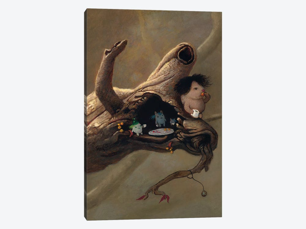 Tea In The Tree by Kristian Adam 1-piece Canvas Art Print