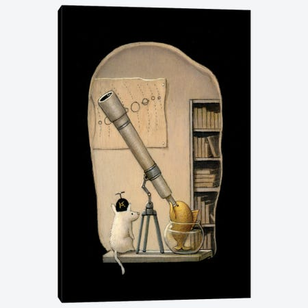 The Young Astronomer Canvas Print #KRA65} by Kristian Adam Canvas Wall Art