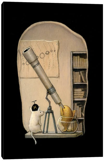 The Young Astronomer Canvas Art Print