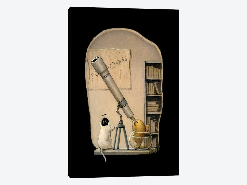 The Young Astronomer by Kristian Adam 1-piece Canvas Wall Art