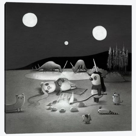 Three Moons Canvas Print #KRA66} by Kristian Adam Canvas Wall Art