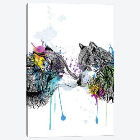Wolves Canvas Print #KRB10} by Karin Roberts Canvas Art Print