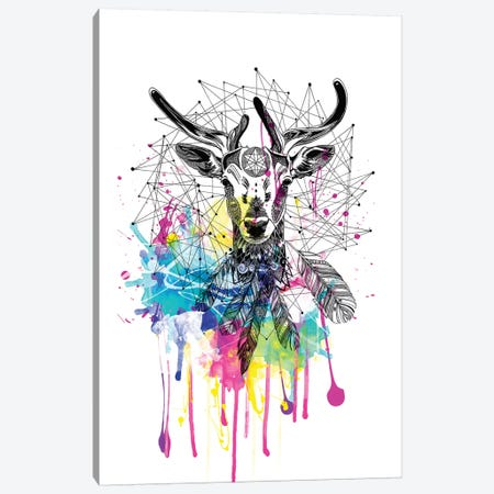 Deer Canvas Print #KRB2} by Karin Roberts Canvas Art