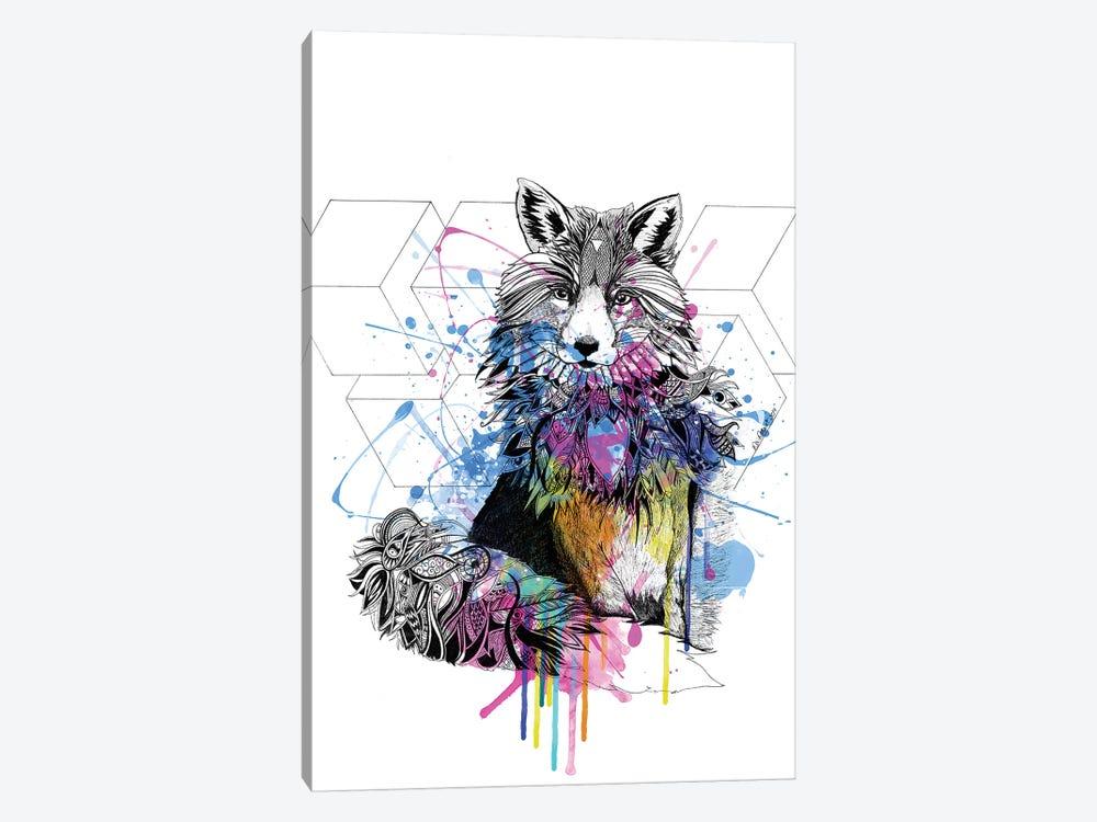 Fox by Karin Roberts 1-piece Canvas Art Print