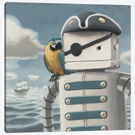 Dread Pirate Robot Canvas Print #KRC15} by Kris Chavez Art Print
