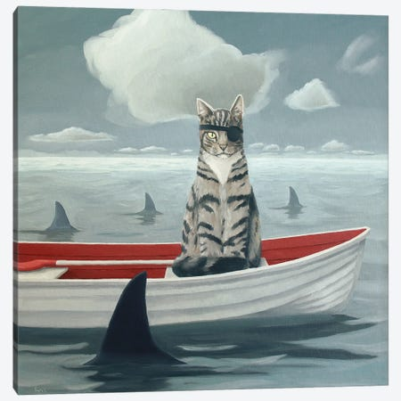 Catch Of The Day Canvas Print #KRC2} by Kris Chavez Canvas Print