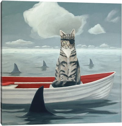 Catch Of The Day Canvas Art Print