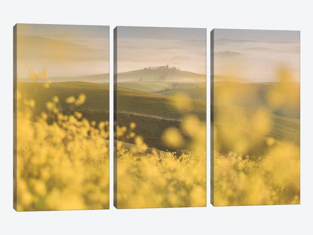 Spring In Tuscany IV by Daniel Kordan 3-piece Canvas Art