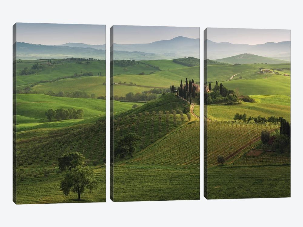 Spring In Tuscany XVI 3-piece Canvas Art Print
