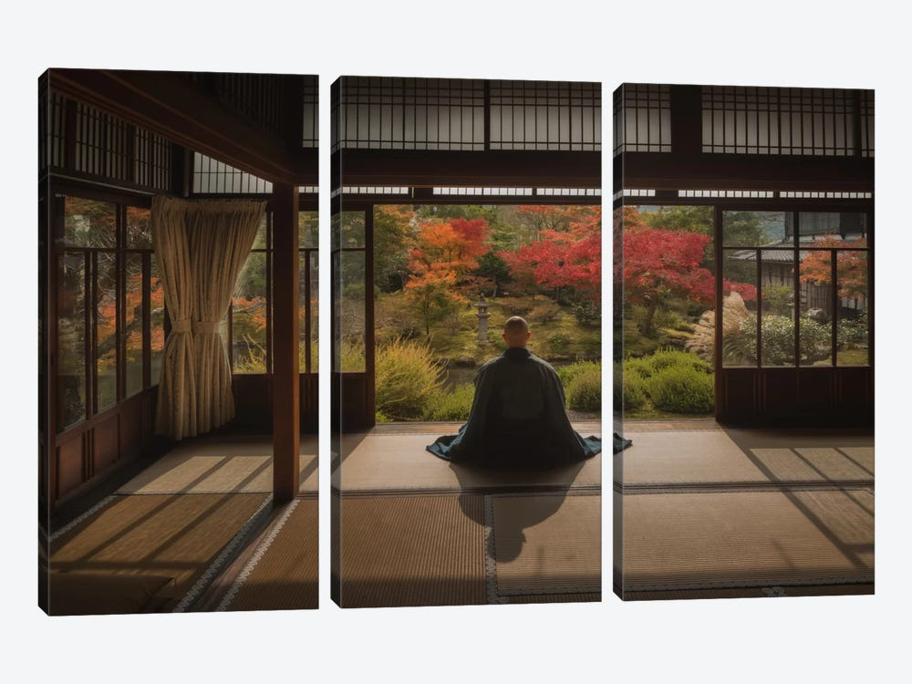 Autumn In Japan XI by Daniel Kordan 3-piece Canvas Print