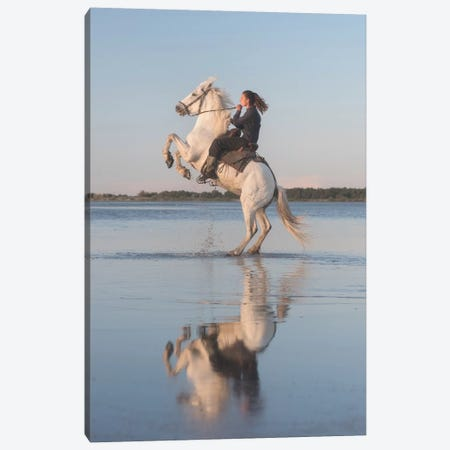 White Angels Of Camargue IV Canvas Print #KRD121} by Daniel Kordan Canvas Artwork
