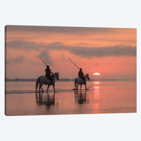 White Angels Of Camargue X Canvas Print #KRD127} by Daniel Kordan Canvas Art Print