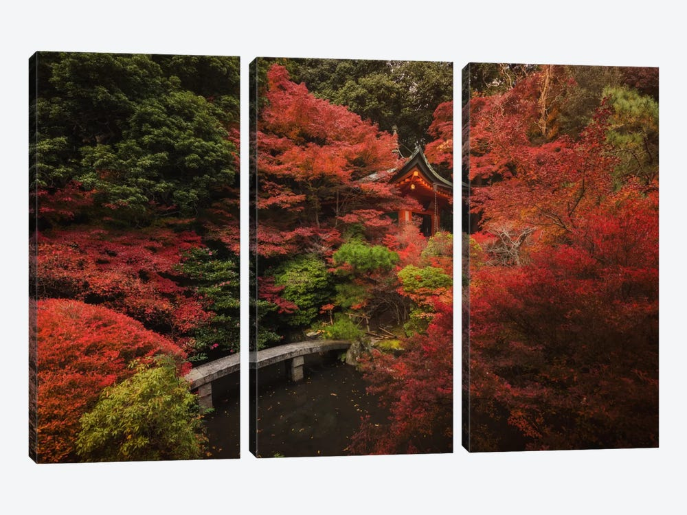 Autumn In Japan XII by Daniel Kordan 3-piece Canvas Art