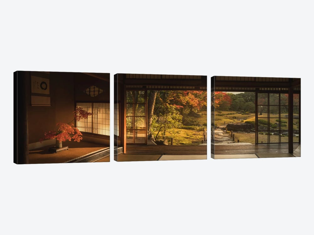 Autumn In Japan XVIII by Daniel Kordan 3-piece Canvas Wall Art