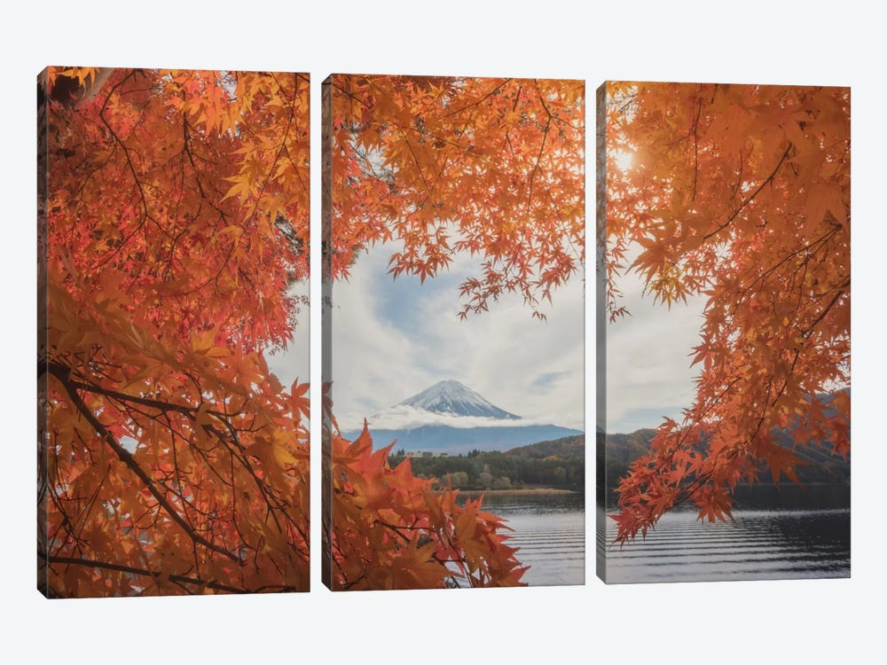 Autumn In Japan XXI by Daniel Kordan 3-piece Canvas Art