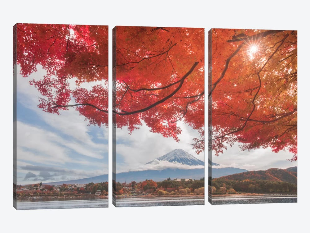 Autumn In Japan XXV by Daniel Kordan 3-piece Canvas Art