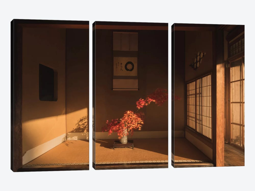Autumn In Japan XXIX by Daniel Kordan 3-piece Canvas Wall Art