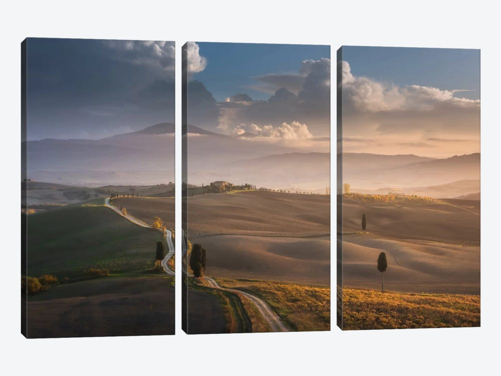 Autumn In Tuscany IX by Daniel Kordan 3-piece Canvas Artwork