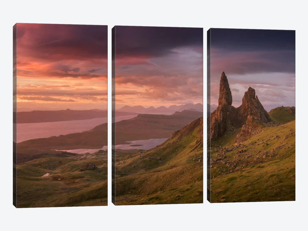 Scotland V by Daniel Kordan 3-piece Canvas Artwork