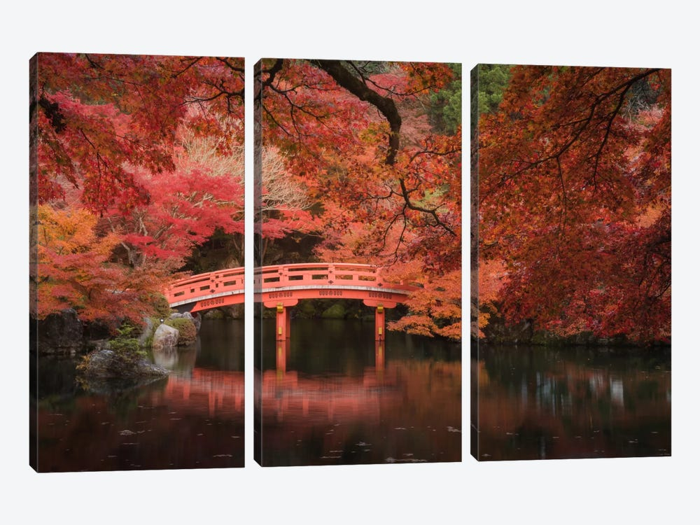 Autumn In Japan V by Daniel Kordan 3-piece Canvas Art Print