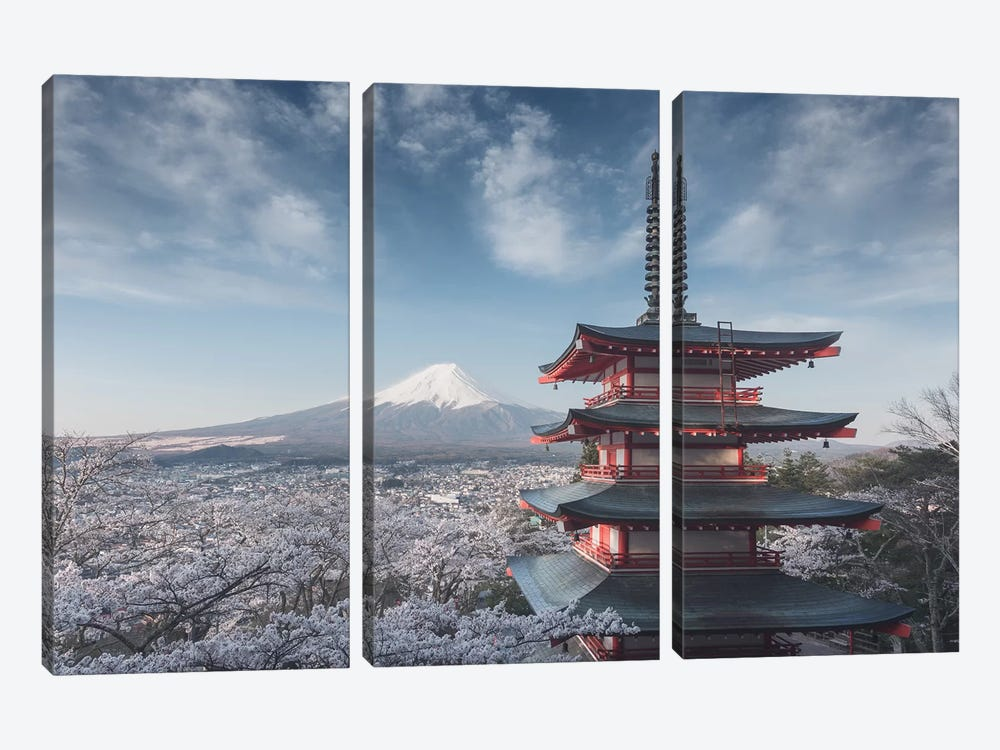 Spring In Japan XXIV by Daniel Kordan 3-piece Canvas Art