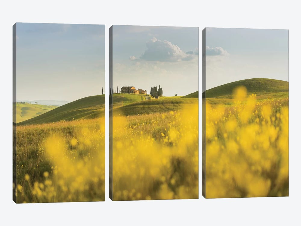 Spring In Tuscany II by Daniel Kordan 3-piece Canvas Artwork