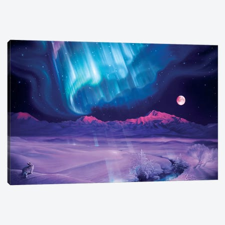 Snowfield Illumination Canvas Print #KRE101} by Kirk Reinert Canvas Art Print