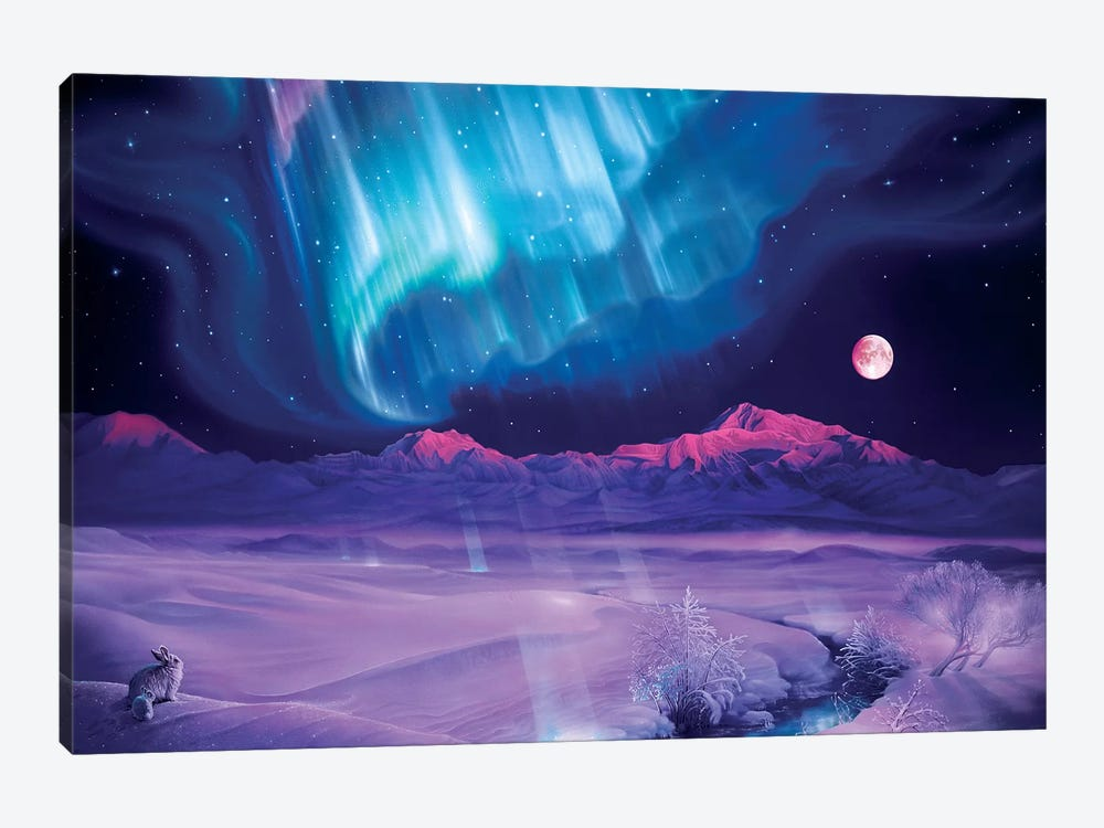 Snowfield Illumination by Kirk Reinert 1-piece Art Print