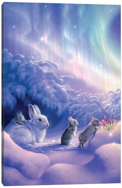 Snuggle Bunnies Canvas Art Print