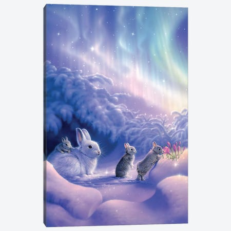 Snuggle Bunnies Canvas Print #KRE102} by Kirk Reinert Art Print