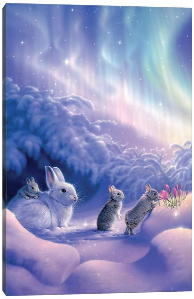 Snuggle Bunnies Canvas Art Print