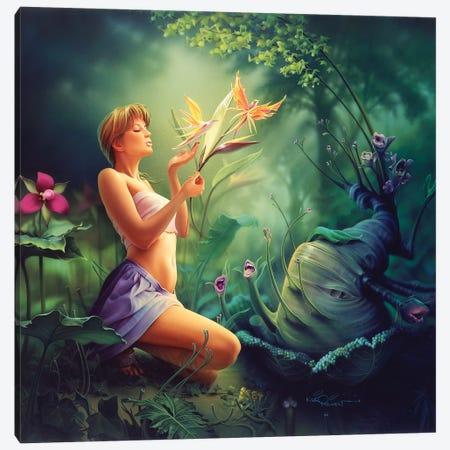 Birds Of Paradise Canvas Print #KRE10} by Kirk Reinert Canvas Wall Art