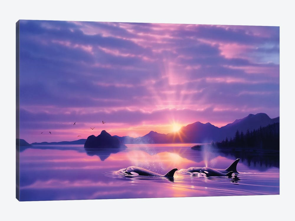 Tranquility Bay 1-piece Canvas Art Print